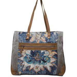 Myra Bag Life Changing Step Leather & Hairon Tote
